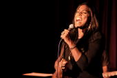 Soul Singer Mica Paris performs at Pizza on the Park Knightsbridge on January 28 2010 in London United Kingdom