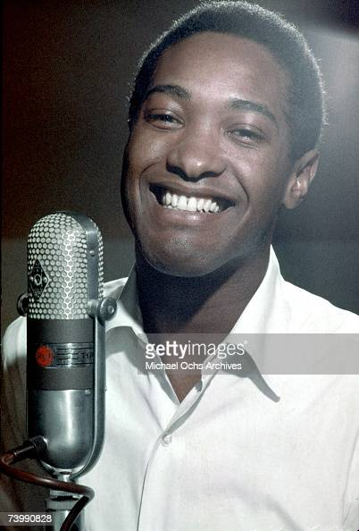 Soul singer Sam Cooke records in the RCA Studios circa 1959 in 1959 Los Angeles California