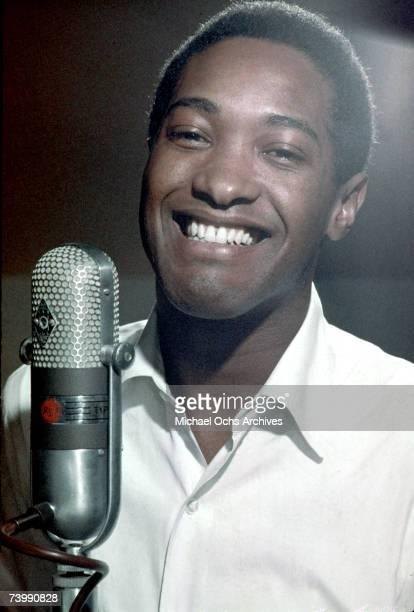 Soul singer Sam Cooke records in the RCA Studios circa 1959 in 1959 Los Angeles California