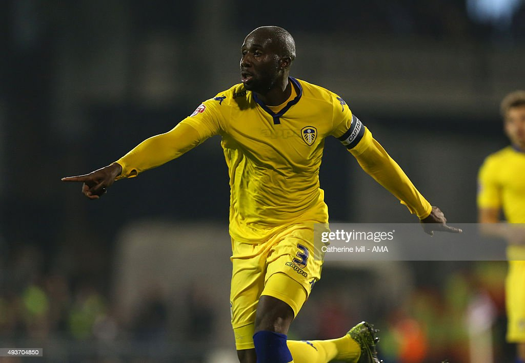 Souleymane Bamba of Leeds United during the Sky Bet Championship match between Fulham and Leeds United at Craven Cottage on October 21 2015 in London...