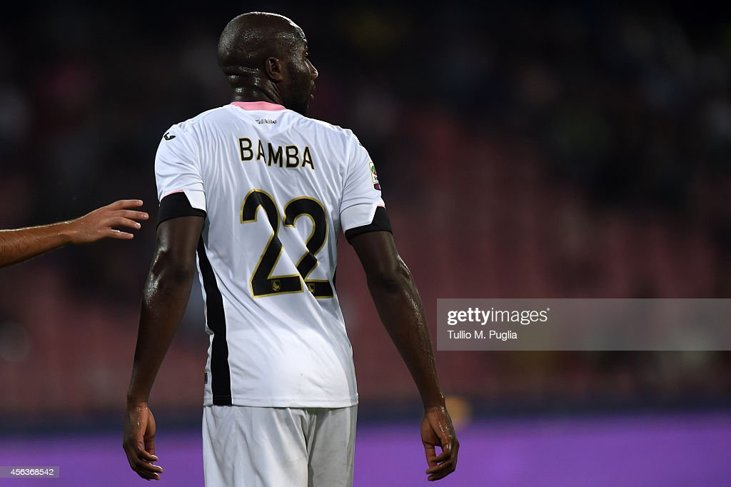 Souleymane Bamba of Palermo in action during the Serie A match between SSC Napoli and US Citta di Palermo at Stadio San Paolo on September 24 2014 in...