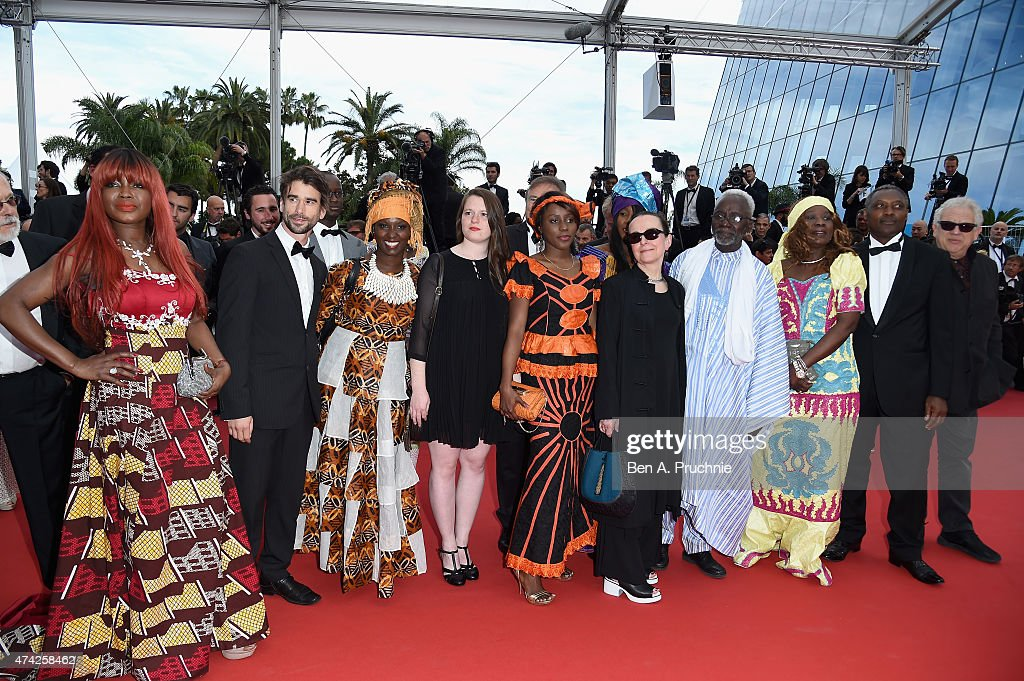 Souleymane Cisse (4th L) , director of 'Oka' walks the red carpet before the Premiere of 'Dheepan' during the 68th annual Cannes Film Festival on May 21, 2015 in Cannes, France.