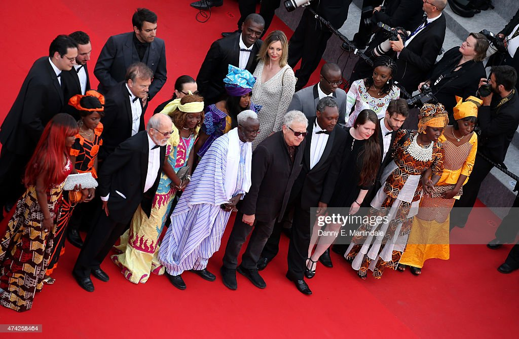 Souleymane Cisse (5th L) , director of 'Oka' walks the red carpet before the Premiere of 'Dheepan' during the 68th annual Cannes Film Festival on May 21, 2015 in Cannes, France.