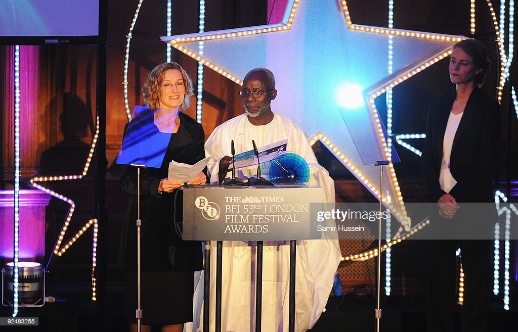 <a gi-track='captionPersonalityLinkClicked' href=/galleries/search?phrase=Souleymane+Cisse&family=editorial&specificpeople=606860 ng-click='$event.stopPropagation()'>Souleymane Cisse</a> receives his BFI Fellowship during the Times BFI 53rd London Film Festival Awards Ceremony at Inner Temple on October 28, 2009 in London, England.