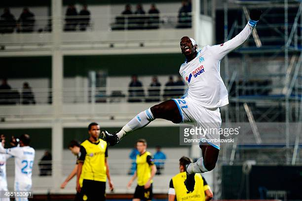 Souleymane Diawara of Olympique de Marseille celebrates first goal during the UEFA Champions League Group F match between Olympique de Marseille and...