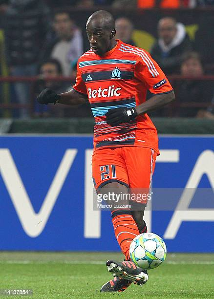 Souleymane Diawara of Olympique de Marseille in action during the UEFA Champions League Round of 16 second leg match between FC Internazionale Milano...