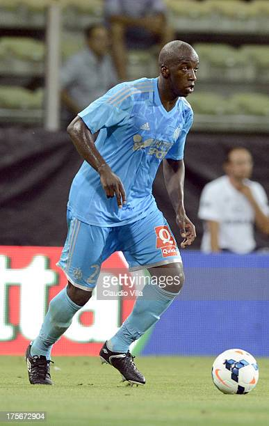 Souleymane Diawara of Olympique Marseille in action during the preseason friendly match between Parma FC and Olympique Marseille at Stadio Ennio...