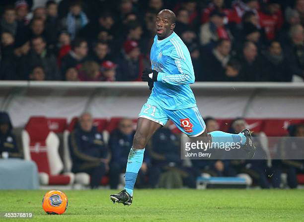 Souleymane Diawara of OM in action during the French Ligue 1 match between Lille OSC and Olympique de Marseille OM at the Grand Stade Pierre Mauroy...