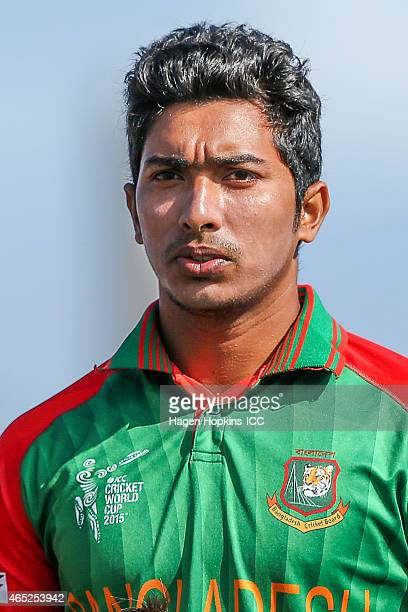 Soumya Sarkar of Bangladesh looks on during the 2015 ICC Cricket World Cup match between Bangladesh and Scotland at Saxton Field on March 5 2015 in...