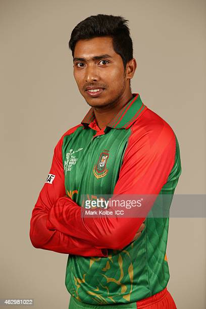 Soumya Sarkar poses during the Bangladesh 2015 ICC Cricket World Cup Headshots Session at the Sheraton Hotel on February 8 2015 in Sydney Australia