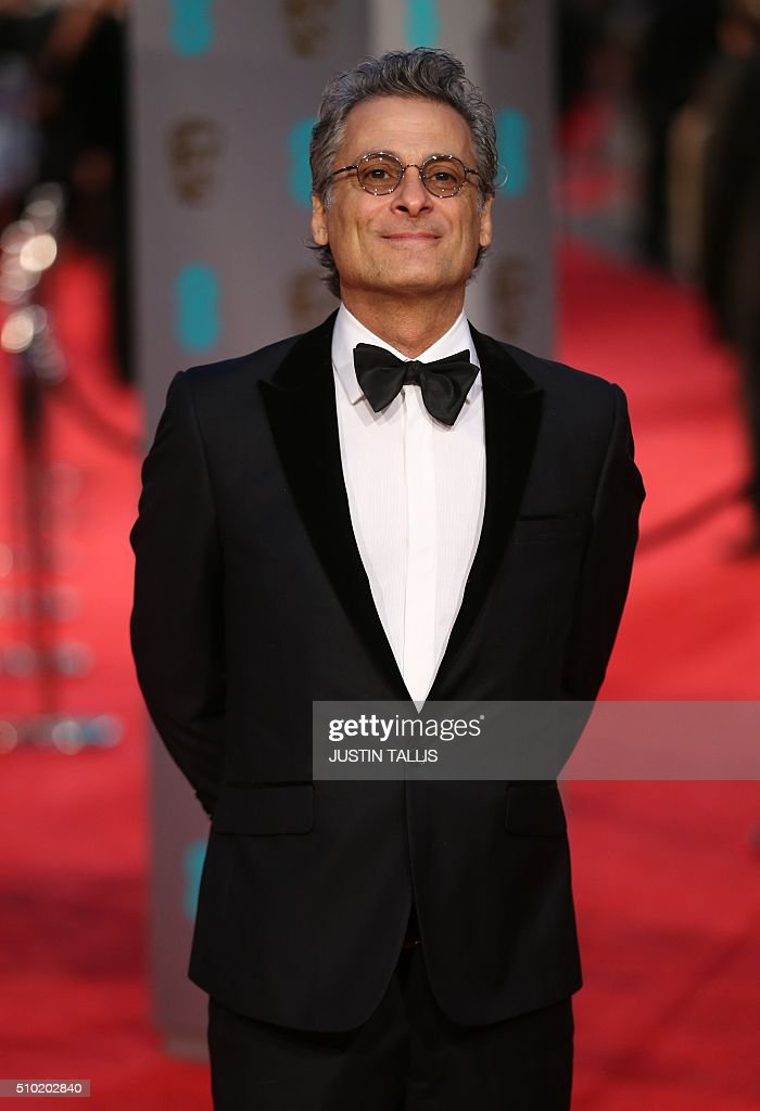 Sound designer Mark Mangini poses on arrival for the BAFTA British Academy Film Awards at the Royal Opera House in London on February 14, 2016. TALLIS