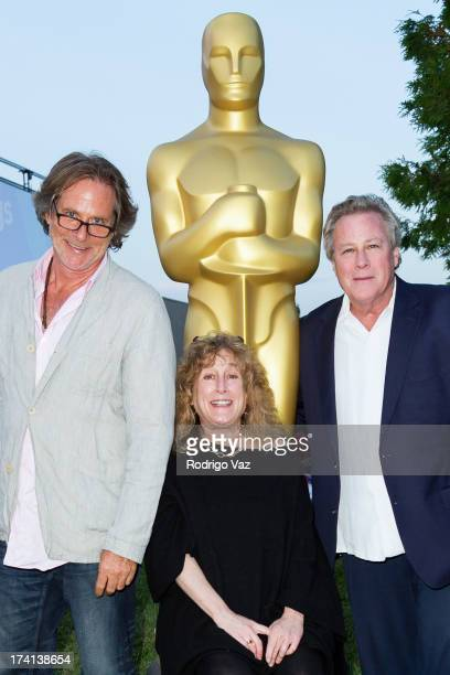 Sound editor Jerry Ross writer and producer Anne Spielberg and actor John Heard attend The Academy of Motion Picture Arts and Sciences' Oscars...