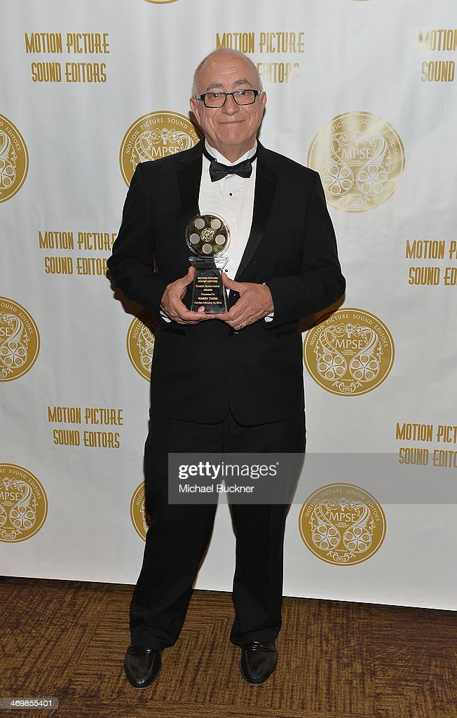 Sound Editor Randy Thom accepts his Career Achievement Award at the 61st Motion Picture Sound Editors Golden Reel Awards at the Westin Bonaventure...