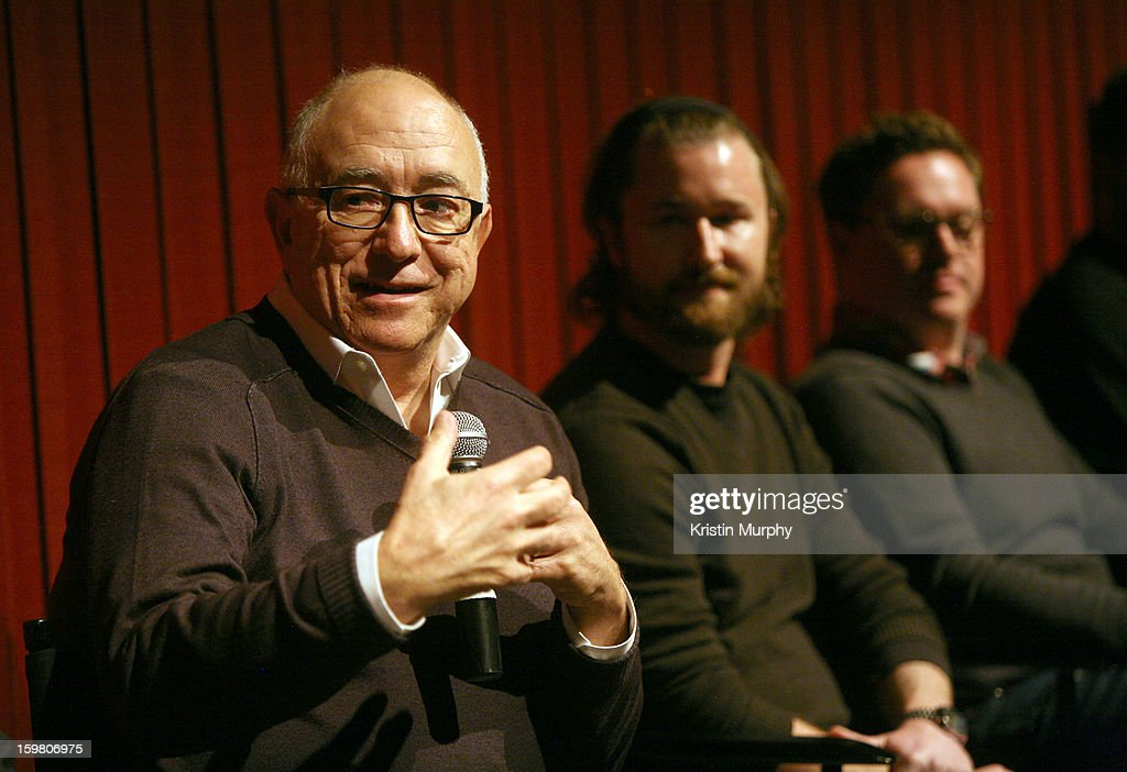 Sound editors Randy Thom, Erik Aadahl and Will Files speak onstage during the Dolby Laboratories Presentation at Holiday Village Cinema VI during the 2013 Sundance Film Festival on January 20, 2013 in Park City, Utah.