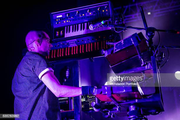 A sound engineer during a concert of the alternative rock band Subsonica at the Fabrique Milan 24th February 2016