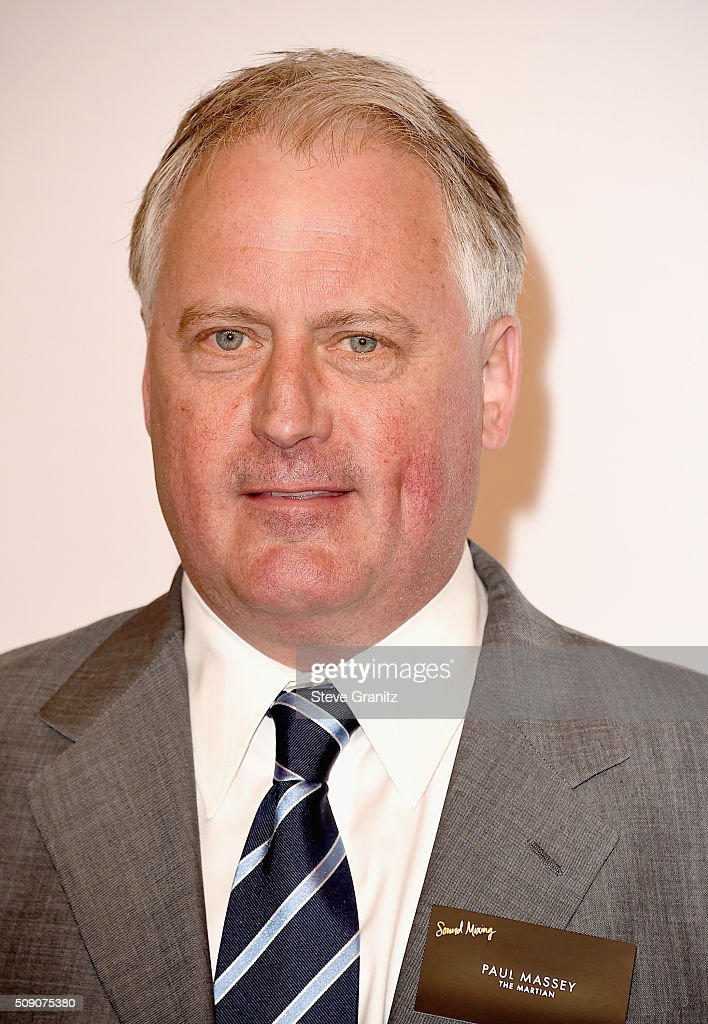 Sound engineer Paul Massey attends the 88th Annual Academy Awards nominee luncheon on February 8, 2016 in Beverly Hills, California.