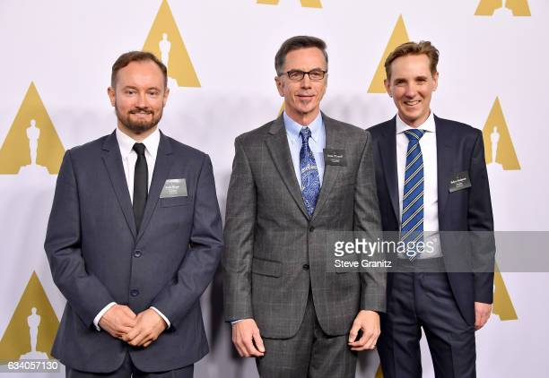 Sound Engineers Andy Wright Kevin O'Connell and Robert Mackenzie attend the 89th Annual Academy Awards Nominee Luncheon at The Beverly Hilton Hotel...