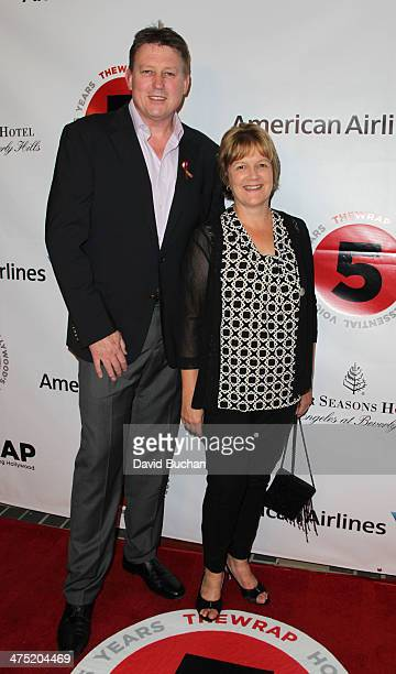 Sound mixer Michael Hedges and Joanne Hedges attends TheWrap's 5th Annual Oscar Party at Culina Restaurant at the Four Seasons Los Angeles on...