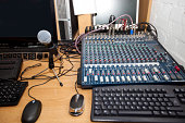 Sound mixing equipment at television station