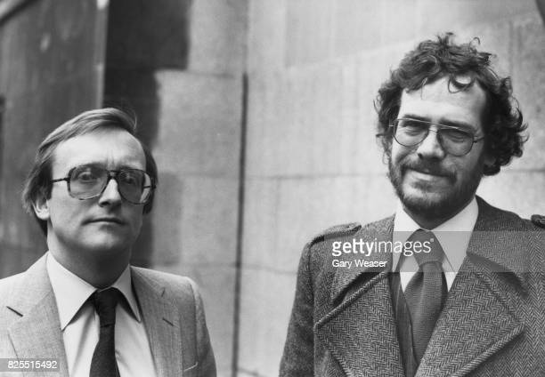 BBC sound recordist Sim Harris and journalist Chris Cramer arrive at the Old Bailey in London to give evidence in the trial of terrorist Fowzi Nejad...