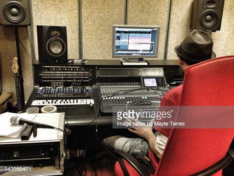 Sound technician : Foto de stock