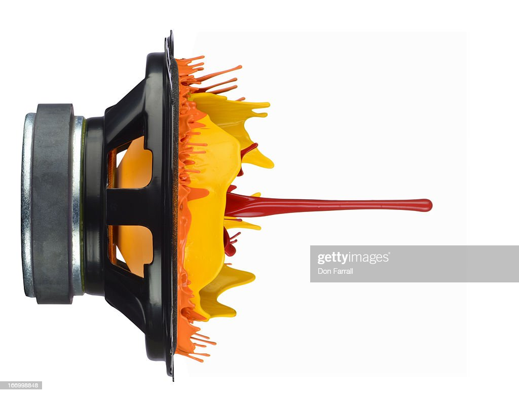Sound Waves, illustrated with paint : Stock Photo