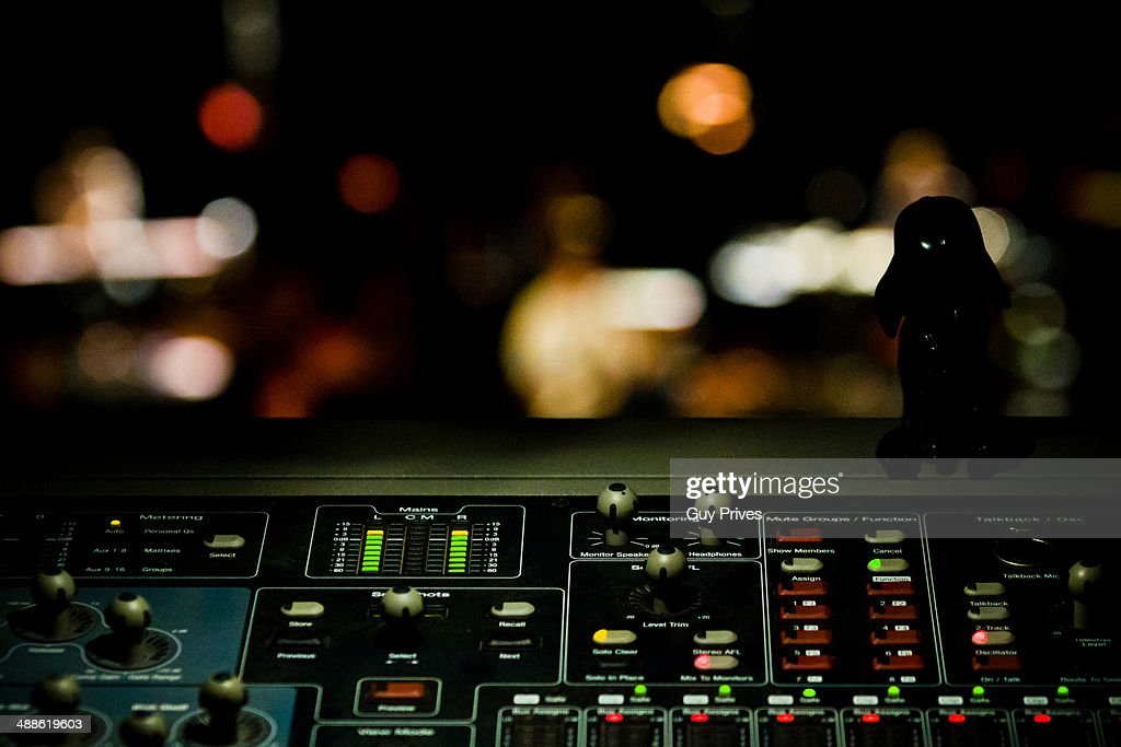 Soundboard at a concert : Stock Photo