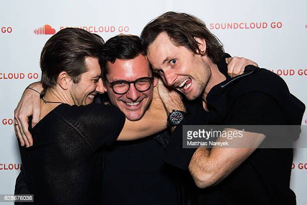 SoundCloud cofounder and Chief Executive Officer Alex Ljung David Noel and SoundCloud cofounder and Chief Technology Officer Eric Wahlforss attend...