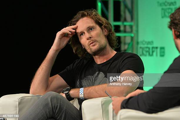 Soundcloud cofounder Eric Wahlforss appears on stage at the 2014 TechCrunch Disrupt Europe/London at The Old Billingsgate on October 21 2014 in...