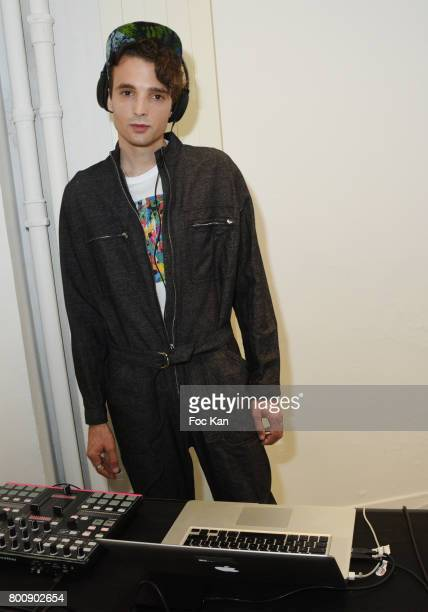 Soundcloud/Anddreasmusic performs during Agnes B Menswear Spring/Summer 2018 show as part of Paris Fashion Week ton June 25 2017 in Paris France