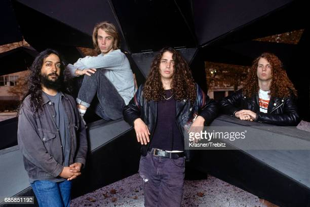 Soundgarden photographed in New York City in 1989 Kim Thayil Matt Cameron Chris Cornell Jason Everman