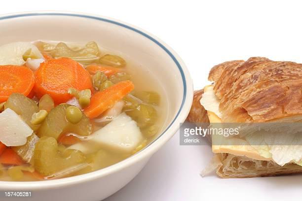 スープ、サンドイッチ