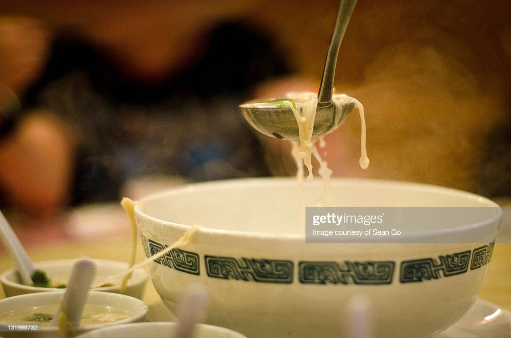 Soup being served : Stock Photo