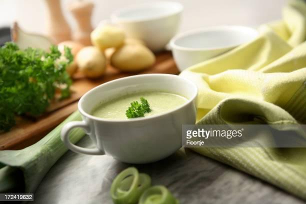 Soup Stills: Leek and Potato Soup