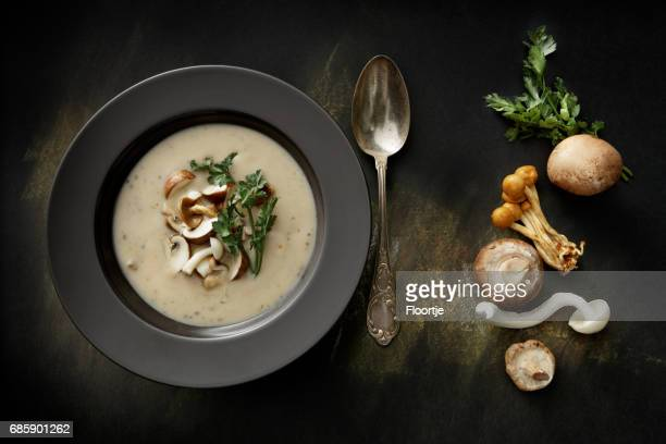 Soups: Mushroom Soup Still Life