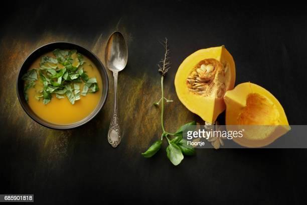 Soups: Pumpkin Soup Still Life