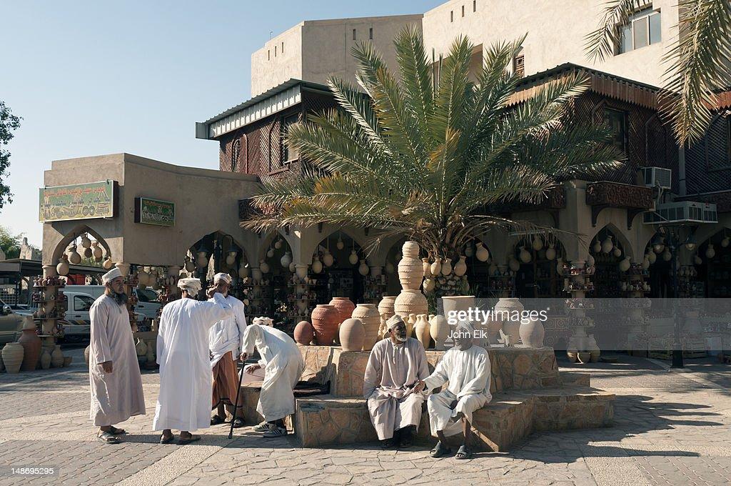 Souq (souk), pottery display.