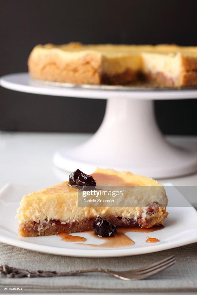 Sour cherry mascarpone cheesecake