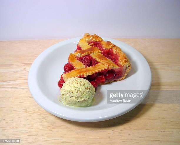 Sour Cherry Pie and Ice Cream