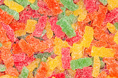 Sour gummy bear candy