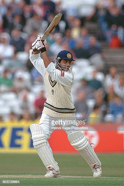 Sourav Ganguly batting for India during the 3rd Test match between England and India at Trent Bridge Nottingham 4th July 1996