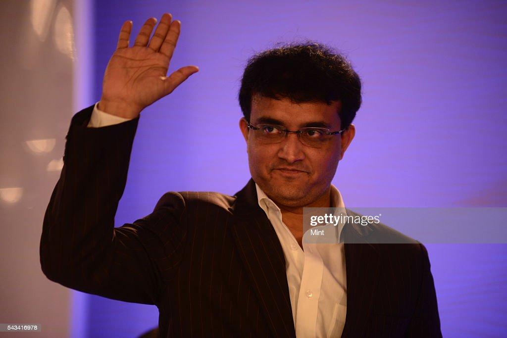 Sourav Ganguly Former Indian Cricket Team Captain speaking at HT leadership Summit on November 21, 2014 in New Delhi, India.