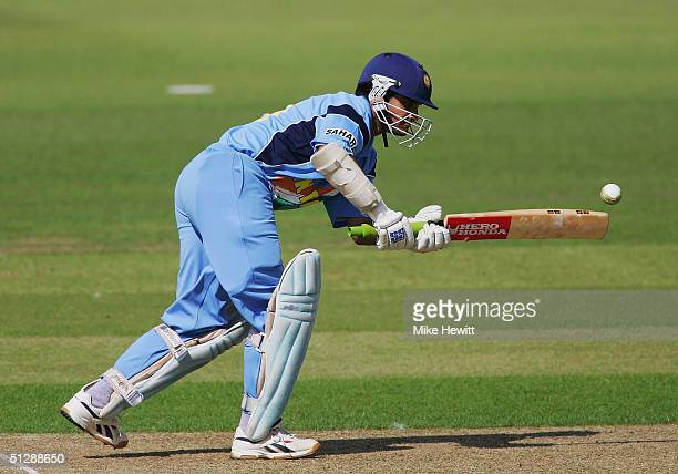 Sourav Ganguly of India in action during his 90 in the ICC Champions Trophy match between India v Kenya on September 11 2004 at the Rosebowl...