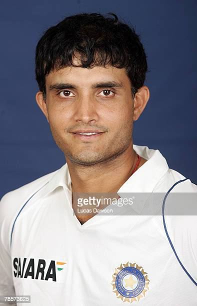 Sourav Ganguly of India poses during the Indian cricket team portrait session at the Melbourne Cricket Ground on December 19 2007 in Melbourne...