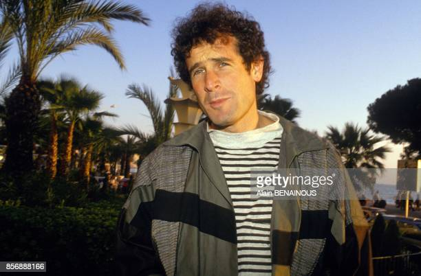 South Afican musician Johnny Clegg at the Midem the trade show on January 26 1990 in Cannes France
