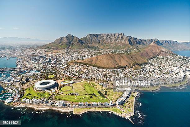 South Africa, aerial view of Cape Town