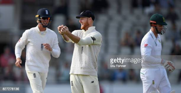 South Africa batsman Theunis de Bruyn is caught by Ben Stokes at slip during day four of the 4th Investec Test match between England and South Africa...
