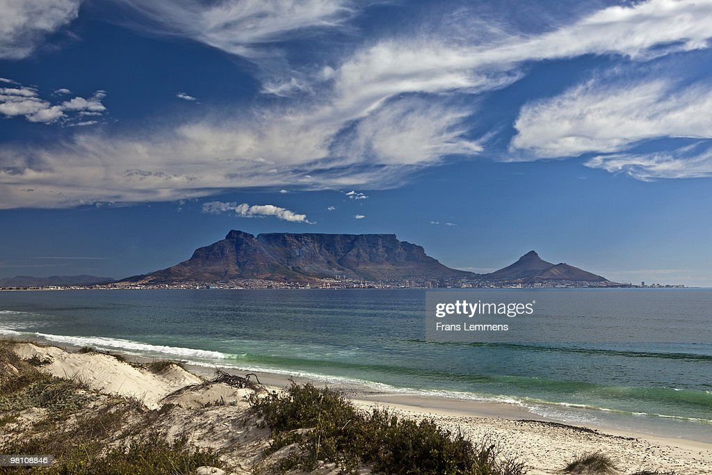 South Africa, Blouberg beach, Table mountain : Stock Photo