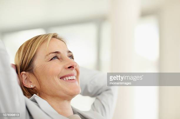 South Africa, Business woman relaxing