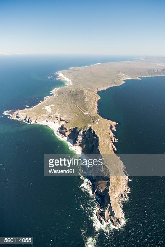 South Africa, Cape Peninsula, aerial view of Cape of Good Hope